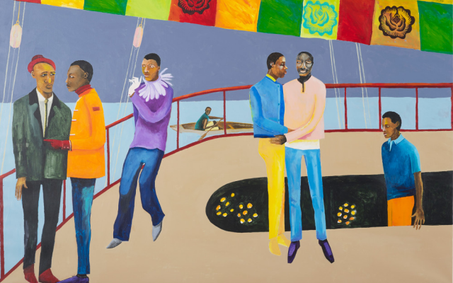 Ball on Shipboard, 2018 Lubaina Himid. Image courtesy the artist and Hollybush Gardens.
